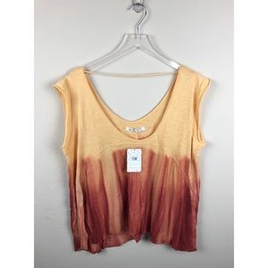 NEW Free People Paradise Tee Orange Brown Size L